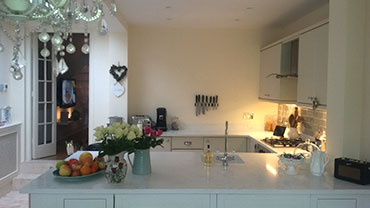 Quartz granite kitchen worktop